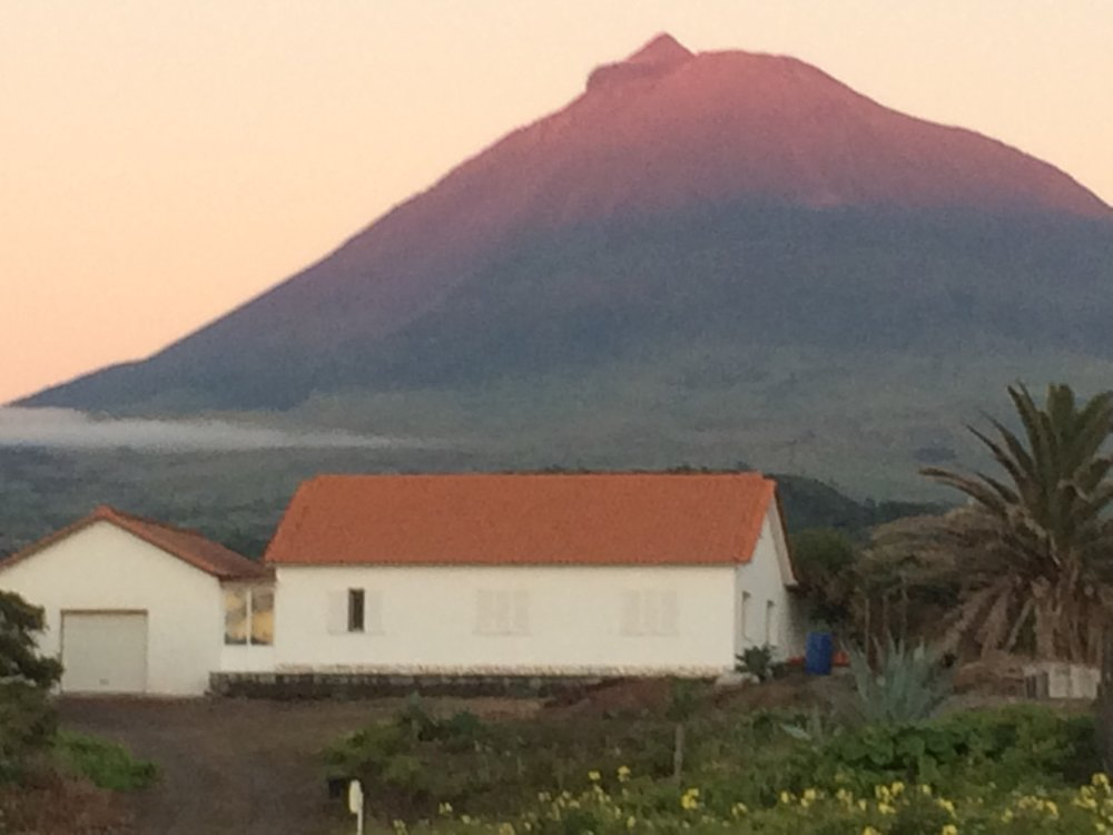 Here is Pico Mountain as it revealed itself a few minutes before sundown from the hotel.