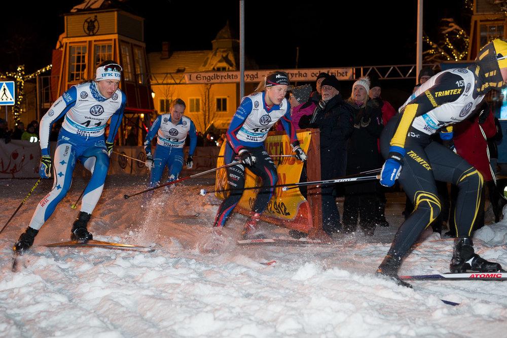 Finalen i Engelbrektssprinten med landslagsstjärnorna Linn Sömskar och segraren Maria Nordström.