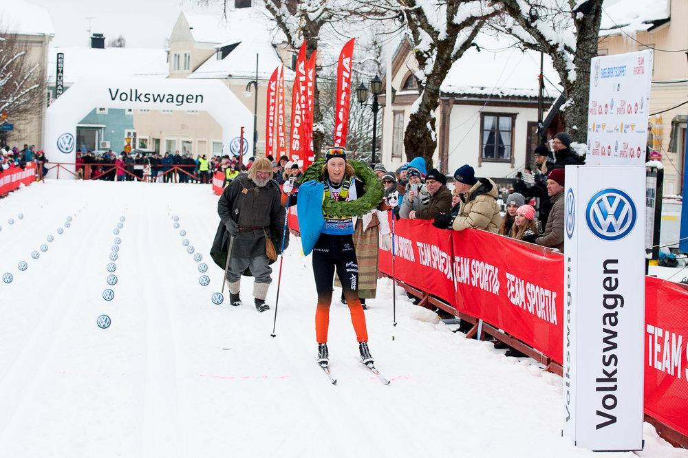 Emilia Lindstedt Falun Borlänge SK segrarinna i Engelbrektsloppet.