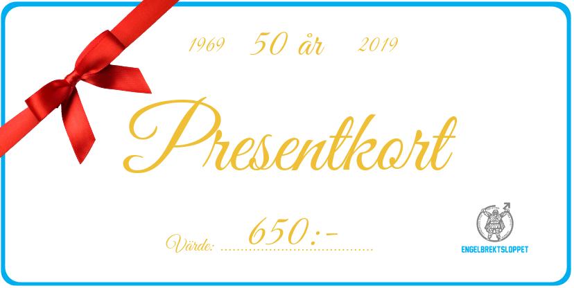 Detta presentkort räcker till en fri start i Kristinaloppet 30 km eller Engelbrektshalvan 30 km