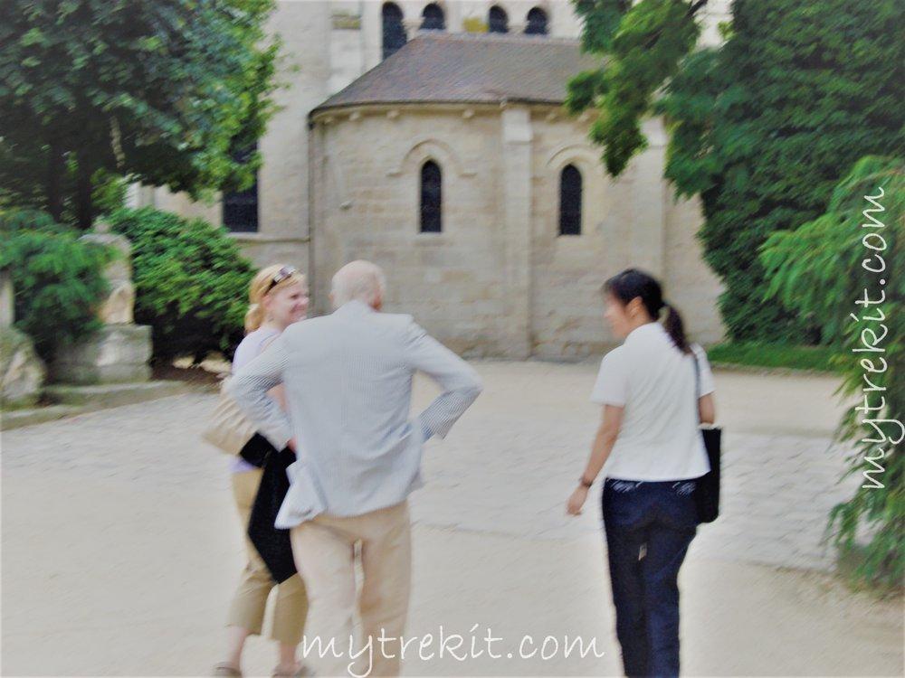 Three strangers, now friends, meandering through Paris