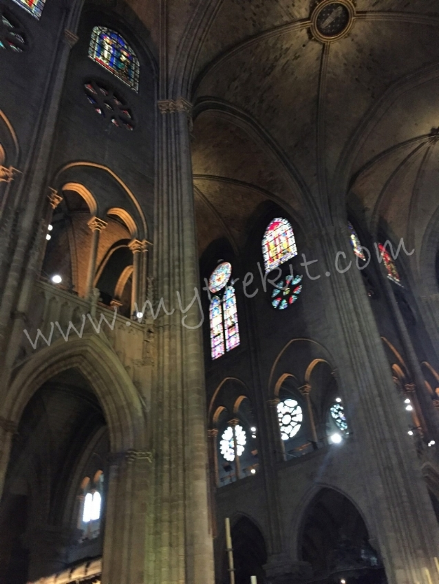 Always remember to look up when inside cathedrals. Stained glass was used for lighting purposes, but also to tell stories from the Bible, through pictures, for those who could not read.
