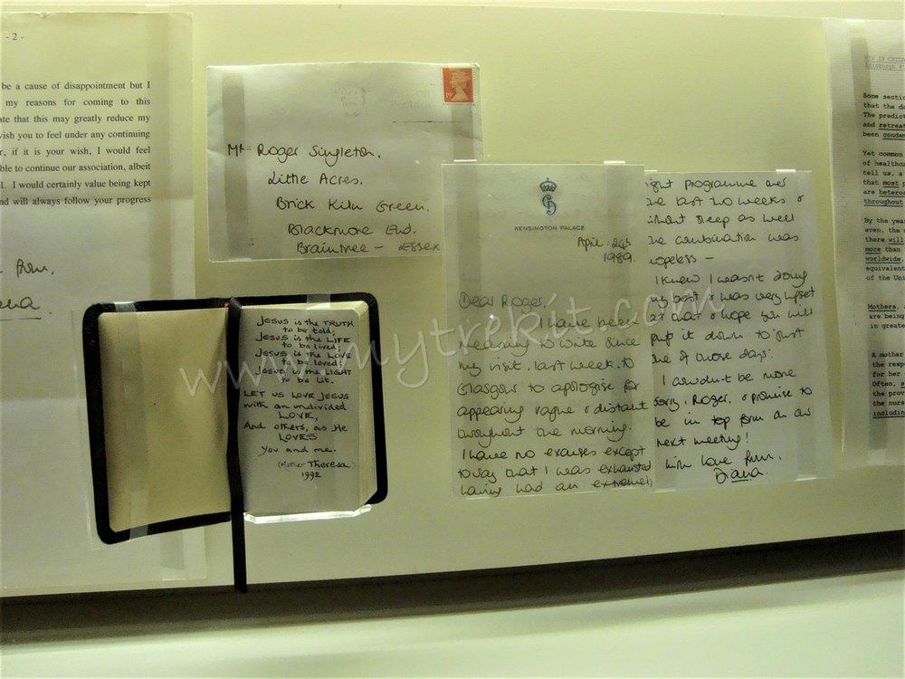 Diana's correspondence.
