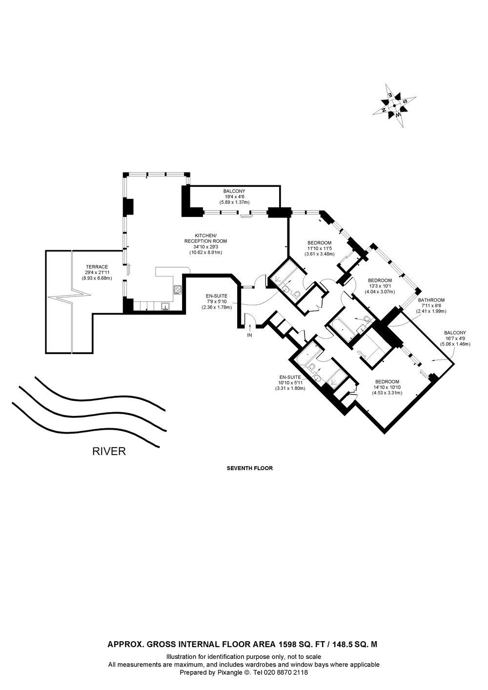 Riverside floor plan
