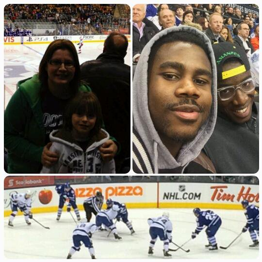 With MJKO participants at the Leafs game -