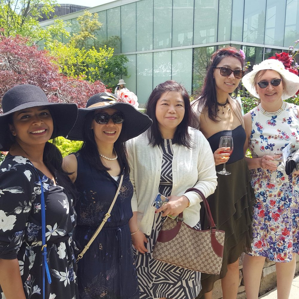 RMT at the Toronto Botanical Garden for the Woman to Women Lunch. -