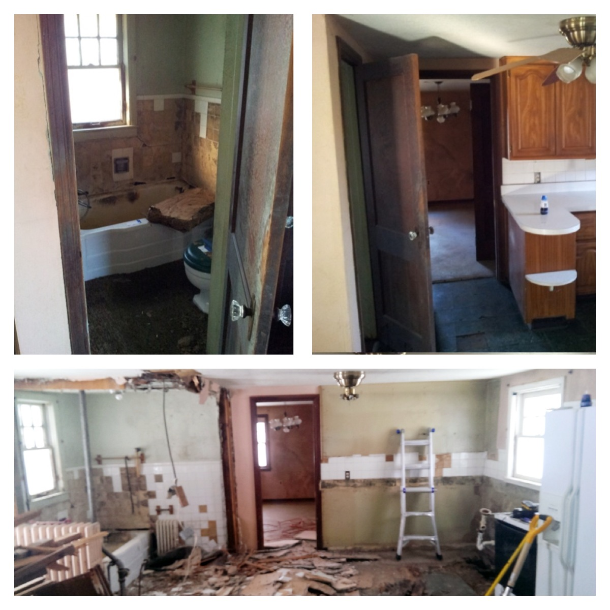 Beautiful bathroom & kitchen GONE!