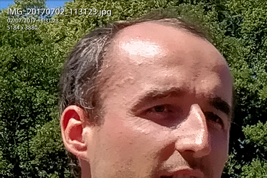 Robert Kubica at Goodwood FOS, 100% on 2.0x zoom