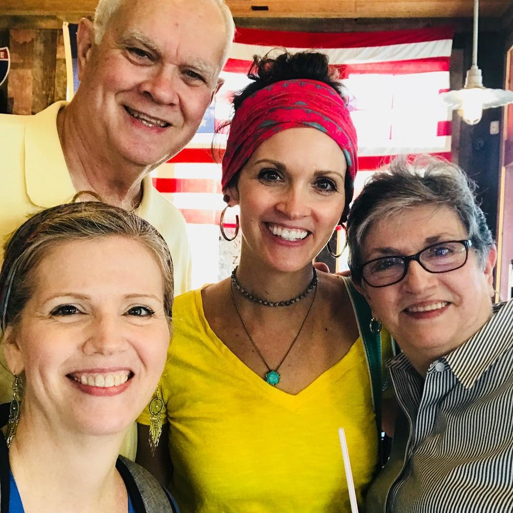 This was an impromptu lunch that we enjoyed together near the end of Mel's sabbatical just about a month ago. I was on a writing deadline, but really glad I didn't miss the chance to be with my parents and sis that day.