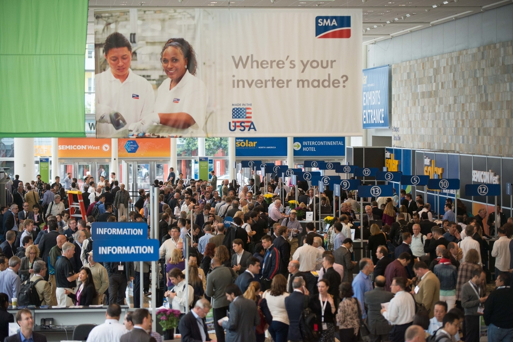 SAN FRANCISCO, CA - Intersolar North America Conference at Moscone Center West, Tuesday July 8, 2014.