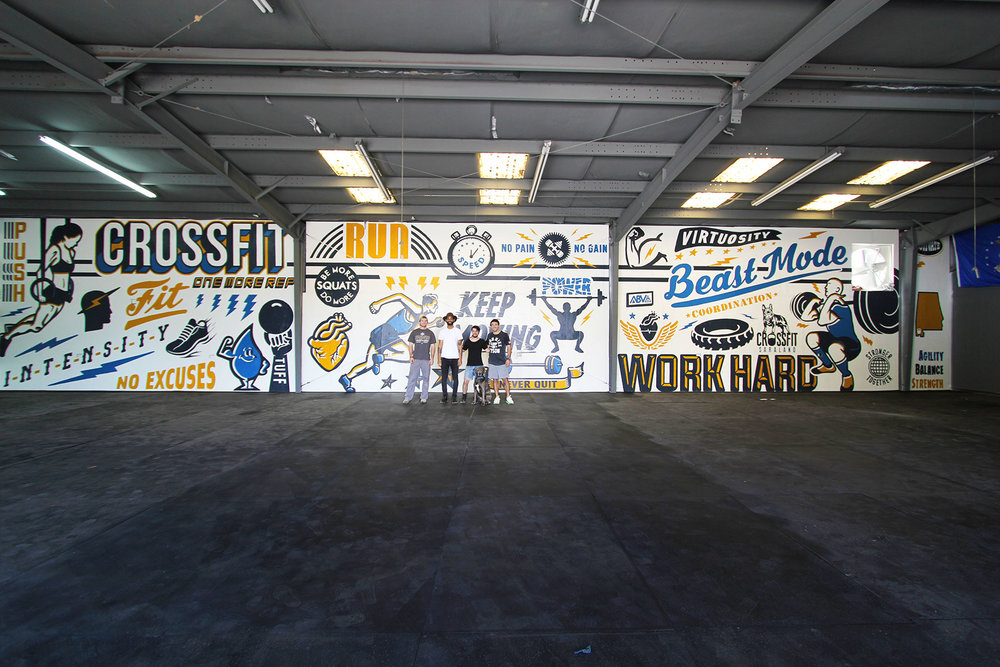 Saraland Crossfit Mural ABV Agency And Gallery