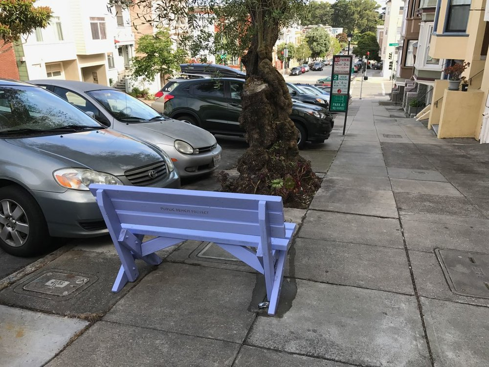 Street Rangers have real power to make change. This bench welcomes everyone to sit and enjoy the street, and it exists thanks to one of our Street Rangers, who worked with the Public Bench Projectto install it.