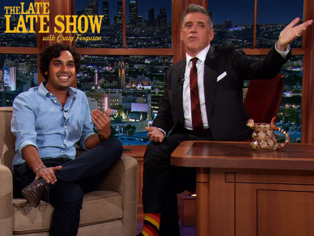 Late Late show with Craig Ferguson CBS - DP Hair  Male Grooming - Hair: Craig Ferguson and Kunal Nayyar