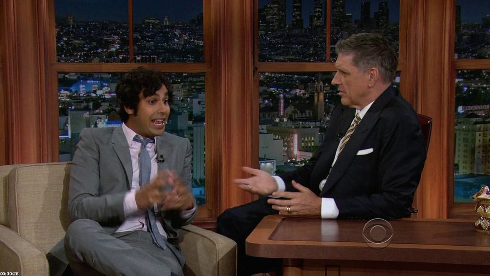 Late Late show with Craig Ferguson CBS - DH Hair  Male Grooming - Hair: Craig Ferguson and Kunal Nayyar