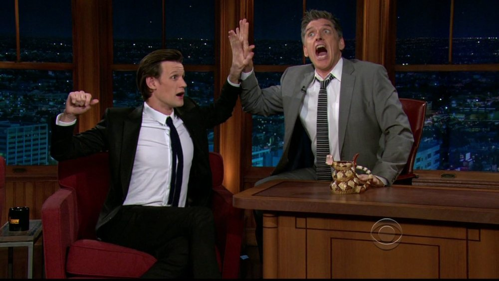 Late Late show with Craig Ferguson CBS - DH Hair  Male Grooming - Hair: Craig Ferguson and Matt Smith