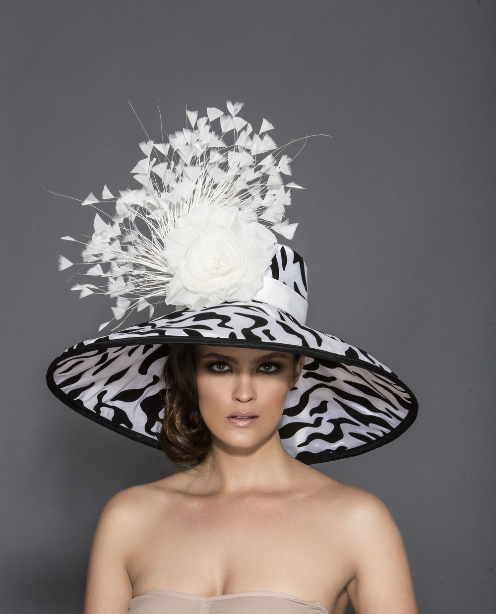 Hat designer: Arturo Rios  Photographer: Mark Sacro  Makeup: Dominique Lerma  Hair: Tuyen Tran