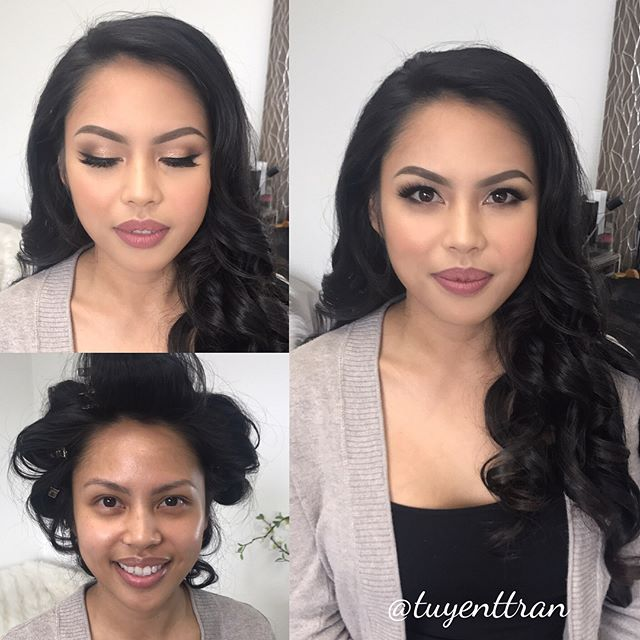 One of the sweetest brides ever!! Love you Maegan! 😘❤️ #hairandmakeuptrial to #weddingday #feelinggrateful #makeup #flawless #makeover #beforeandafter #hairbyme #makeupbyme #motd #bridalmakeup #bridalmua @trangformationlashes #trangformationlashes #ocwedding #ochairstylist #ocmakeupartist #lamakeupartist #lahairstylist #weddingday #wedding #makeupforever #anastasiabeverlyhills brows @westmorebeauty blush, lips, & mascara @narscosmetics_ concealer #tartecosmetics eyeshadows #foundation @esteelauder #nofliterneeded