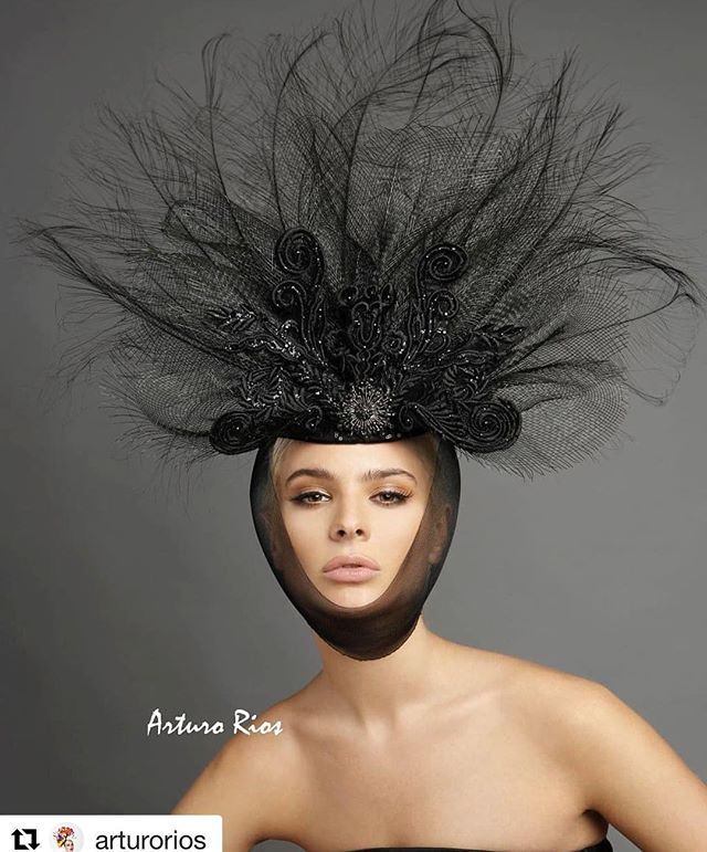 😍😍😍 #Repost @arturorios with @get_repost ・・・ Awesome headpiece from our new collection made of burnout ostrich feathers and guipure lace, I can see it in the runway or a high end magazine or any ideas? 😏 Model @avacapra  photo @marksacrophotography mua @willyou32makeup hair @tuyenttran 👒 #fashion #editorial  #runway #couture #hat #headpiece #magazine #stylist #fashionshow #haute #stylists #headdress #trend #model #fridayhatattack #ny #losangeles #showroom #press #italy #paris #london # followme #arturorios #hair #makeup