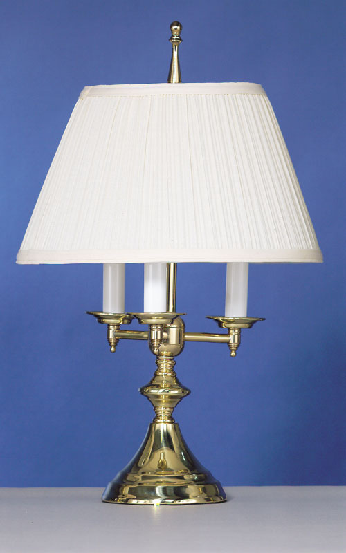 3 Arm Brass Table Lamp Tomlin Lighting Inc