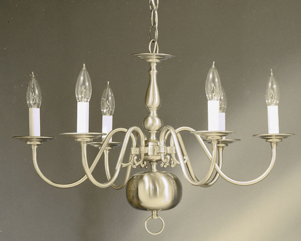 6 arm brushed nickel williamsburg chandelier tomlin lighting inc 6 arm brushed nickel williamsburg chandelier aloadofball Image collections