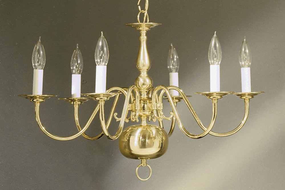 6 arm polished brass williamsburg chandelier tomlin lighting inc 6 arm polished brass williamsburg chandelier aloadofball Image collections
