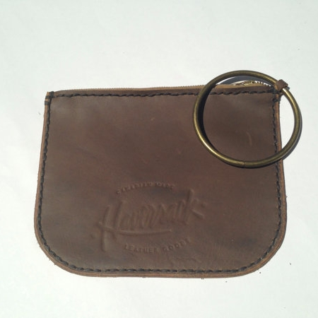 LEATHER WRISTLET, BROWN -