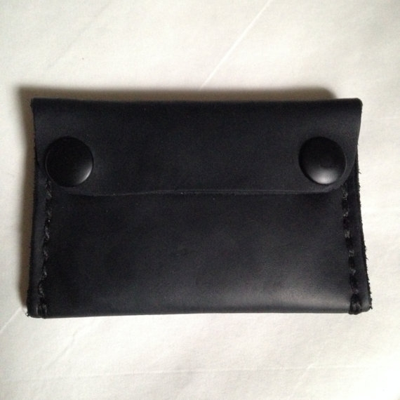 LEATHER WALLET, BLACK -