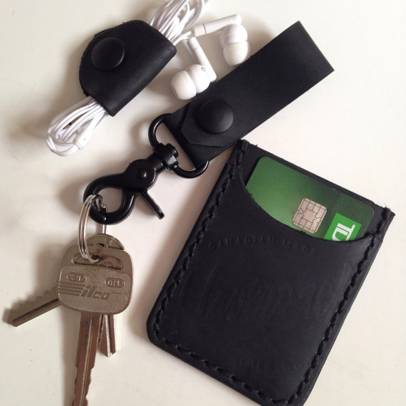 LEATHER EVERYDAY CARRY COMBO, MATTE BLACK -