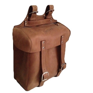 LEATHER BICYCLE PANIER, BROWN -