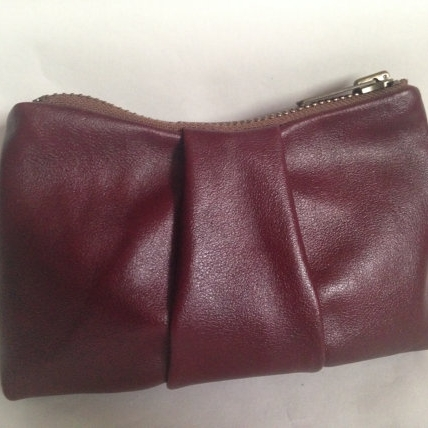 LEATHER COIN POUCH, MARSALA -