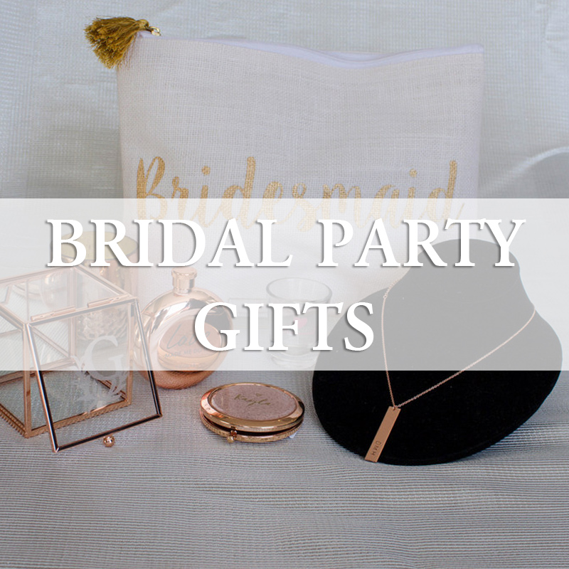 Bridal party gifts and groomsmen gifts