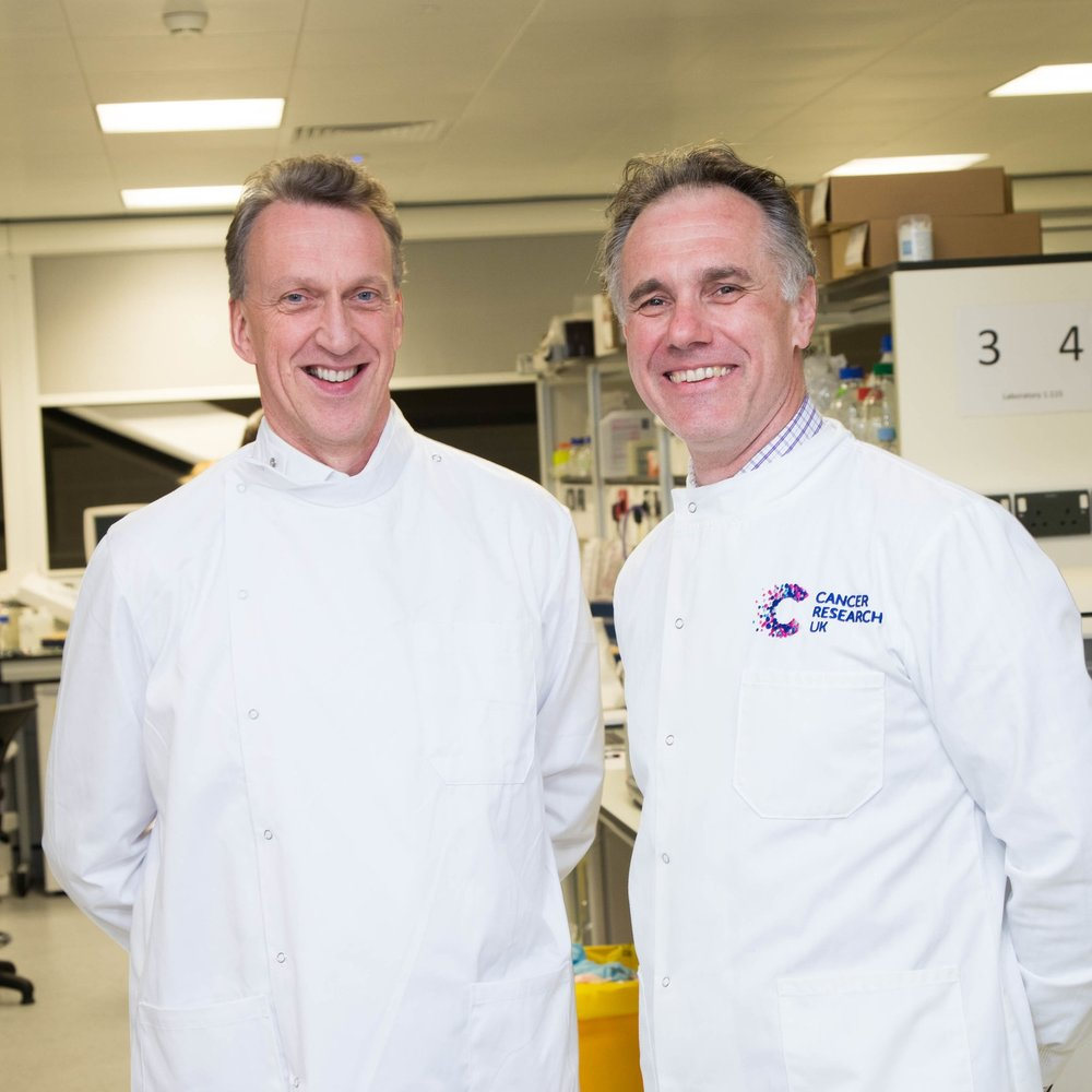 Dr Chris Doherty, Managing Director, Alderley Park and Professor Richard Marais, Director, CRUK Manchester Institute
