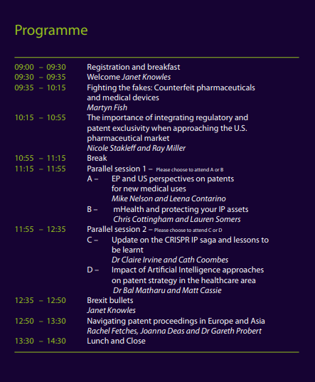 IP In healthcare 2019 agenda.PNG