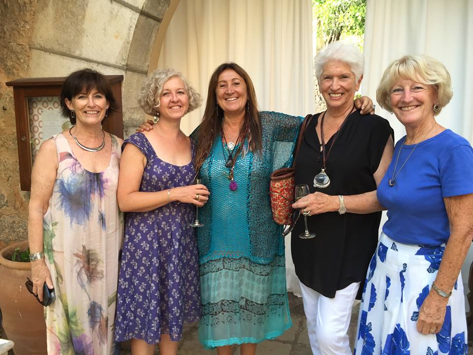 Lynne at the Residencia Hotel in Mallorca, 'In Conversation' with Louise Davis, Anna Nicholas, Jackie Waldren and Kate Mentink