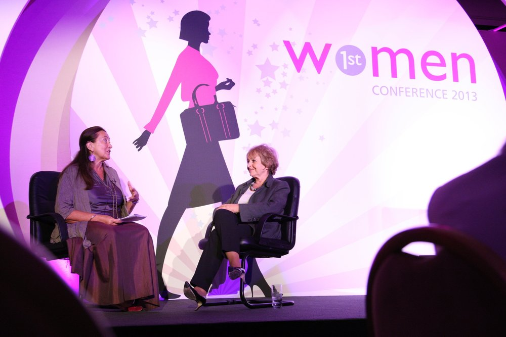 Lynne, 'In Conversation' with Margaret Hodge MP at the Women 1st Conference in 2013