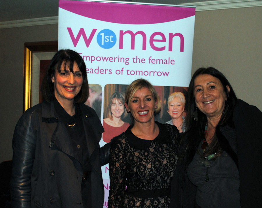 Lynne, post chat 'In Conversation' with DBE Carolyn McCall CEO of EasyJet and Simone Roche, Founder of Northern Power Women.