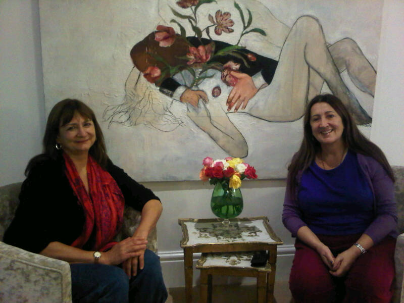 Lynne with close friend and spiritual teacher Denise Linn, at B.Hive