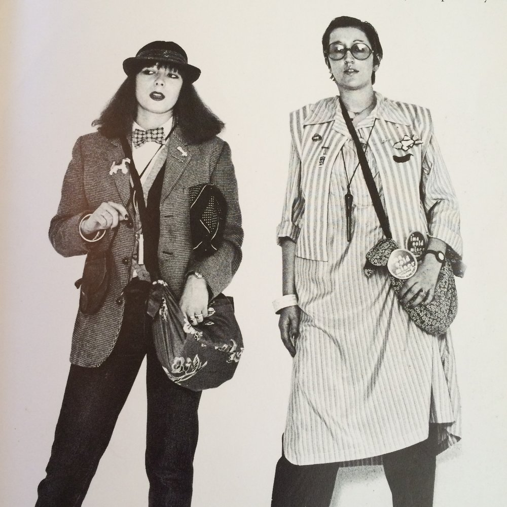 Lynne and Wendy Dagworthy photographed for Brigid Keenan's book, The Women We Wanted to Look Like, 1977