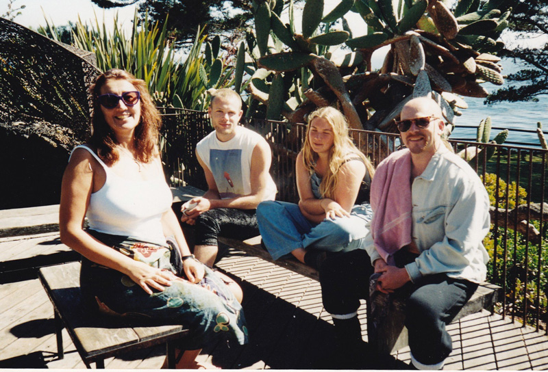 Lynne at a Five Rhythms Retreat at The Esalen Institute, California with Ya'Acov Darling Khan, 1993