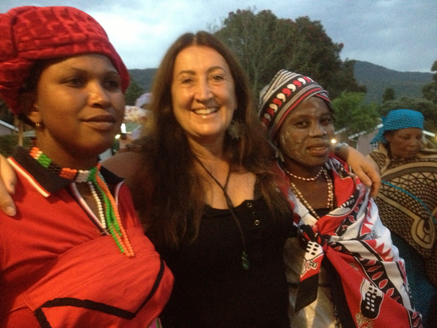Lynne with her South African Sangoma medicine women friends