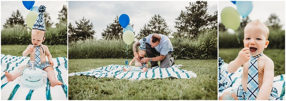 lifestyle family session | cake smash | lifestyle michigan photographer