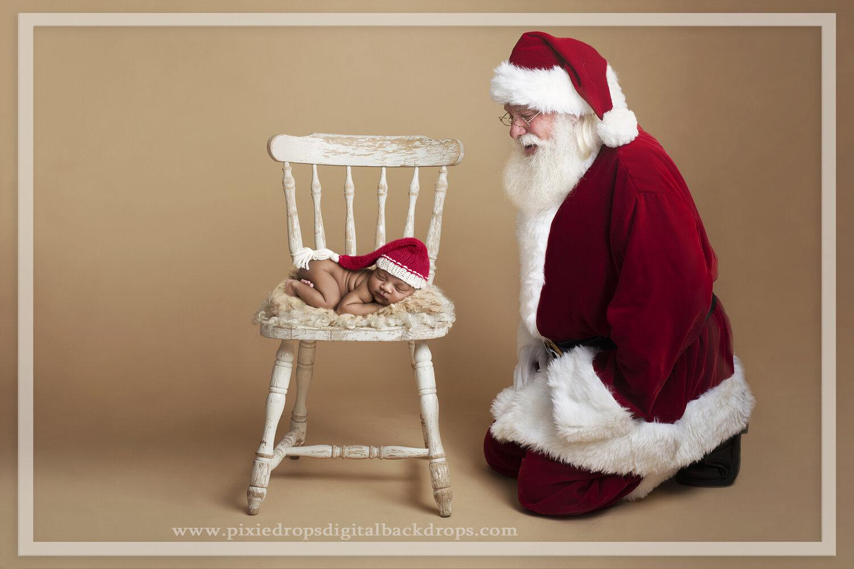 Santa/'s Wooden Box for Newborn Composite Christmas Digital Backdrop Newborn Digital Background Santa Backdrop