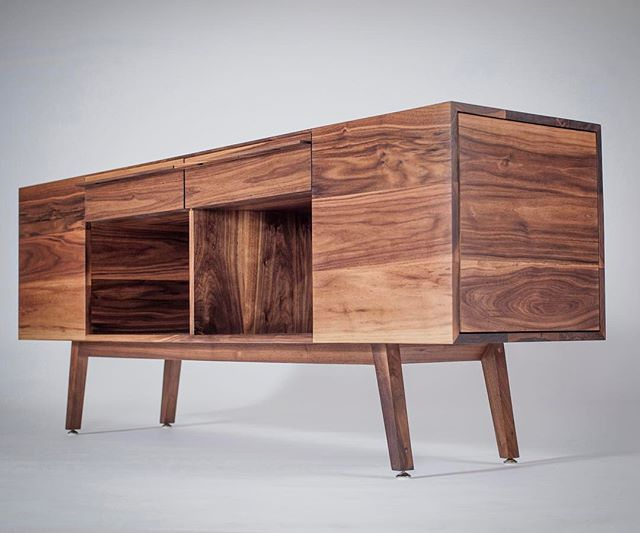 Often one piece will influence the next. Right now, #edith is serving as inspiration for a new #prototype underway. We're falling #inlove with her all over again. #alisandifer #furniture #design #midwest #michigan #detroit #madeinamerica #madeindetroit #hardwoods #walnut #staytuned