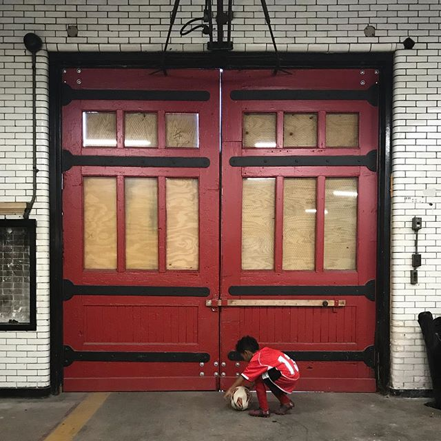 Ali Sandifer has a new home. More to come in the new year. #madeindetroit #settingupshop #historic #handcraft #hardwoods #woodshop #reddoor #momandpopshop #alisandifer