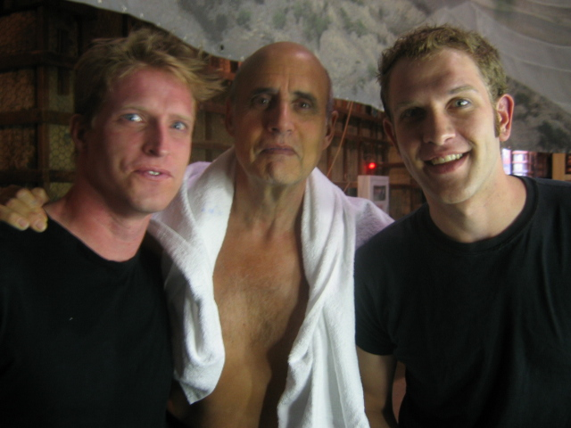 With Jeffrey Tambor and Jeffrey Doornbos (another Blue Man) after shooting Arrested Development. Three Jeffrey's Can you handle it? I went on to study acting for a number of years with Jeffrey (Tambor) after this shoot.