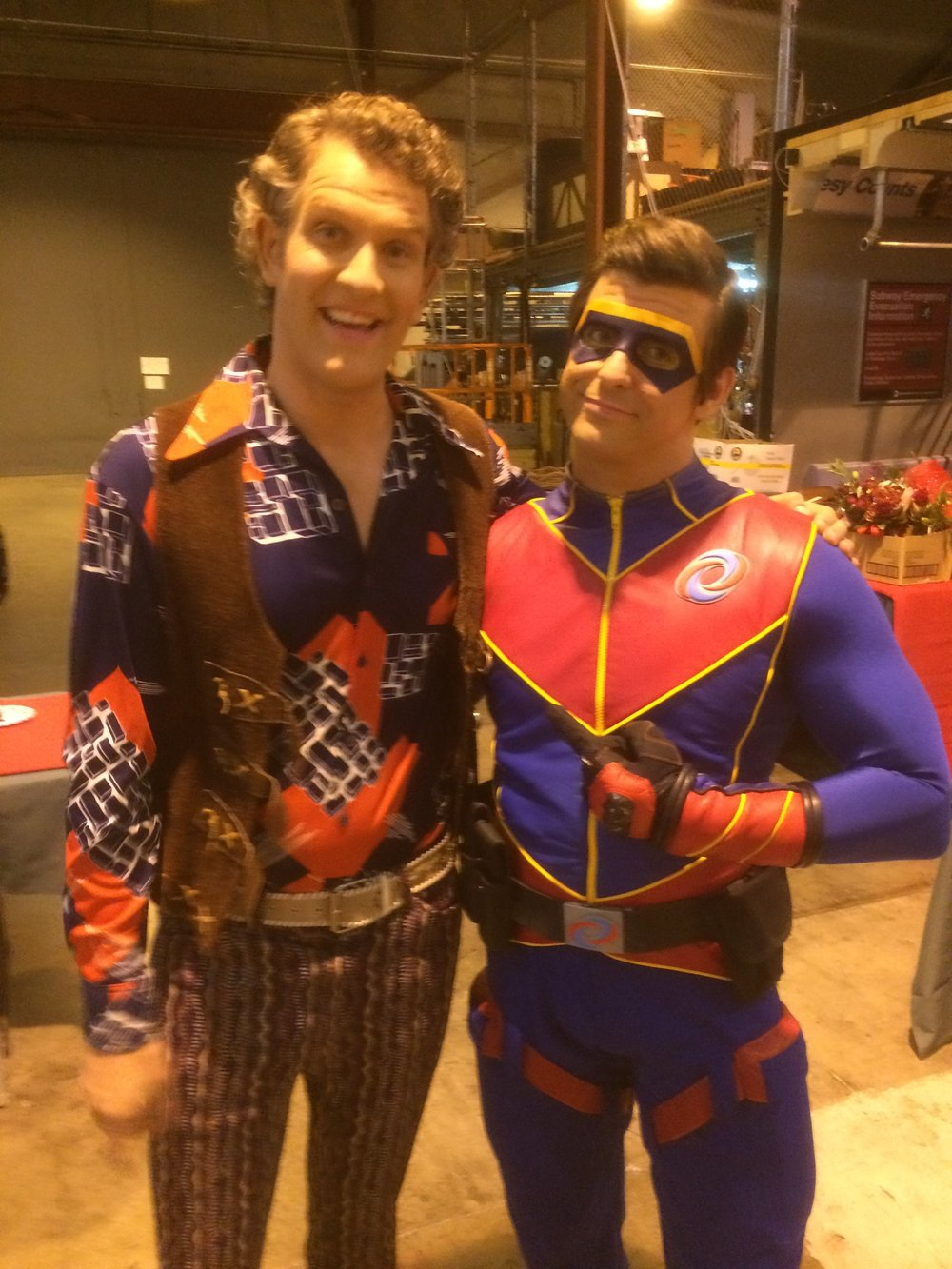 My favorite outfit to date on the set of Henry Danger with my pal Cooper Barnes. Not sure who looks more ridiculous.