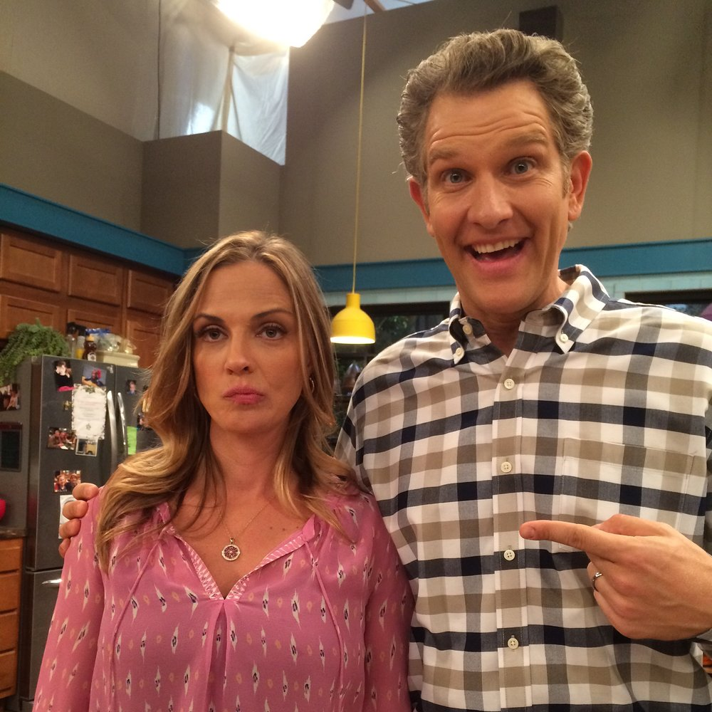 Me n' the TV wife on the set of Henry Danger. She's so excited to be my TV wife...
