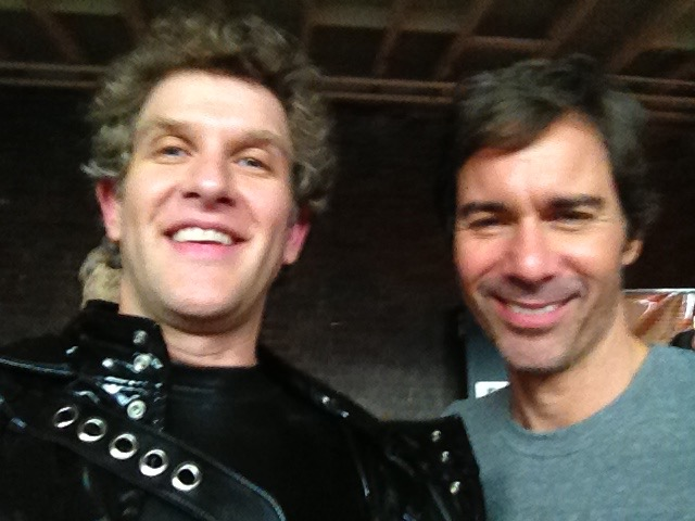 """This was on the set of """"Perception"""" and Eric McCormack's directorial debut. Man is my chin prominent here..."""