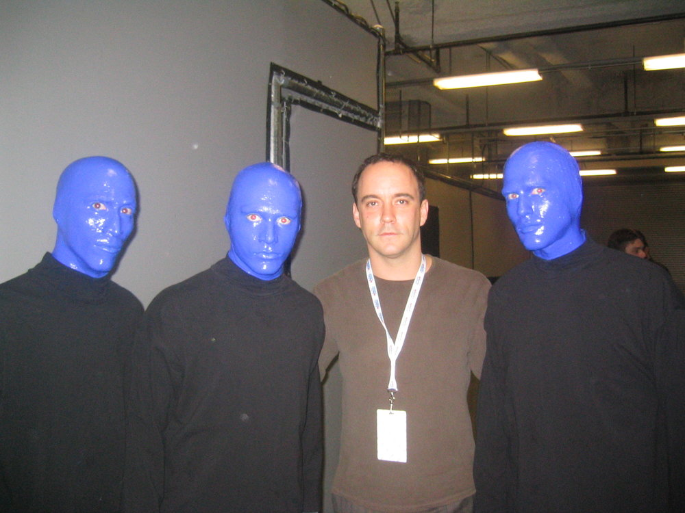 At the Pollstar Awards with Dave Mathews. He sang on the second Blue Man Group Album. So there.