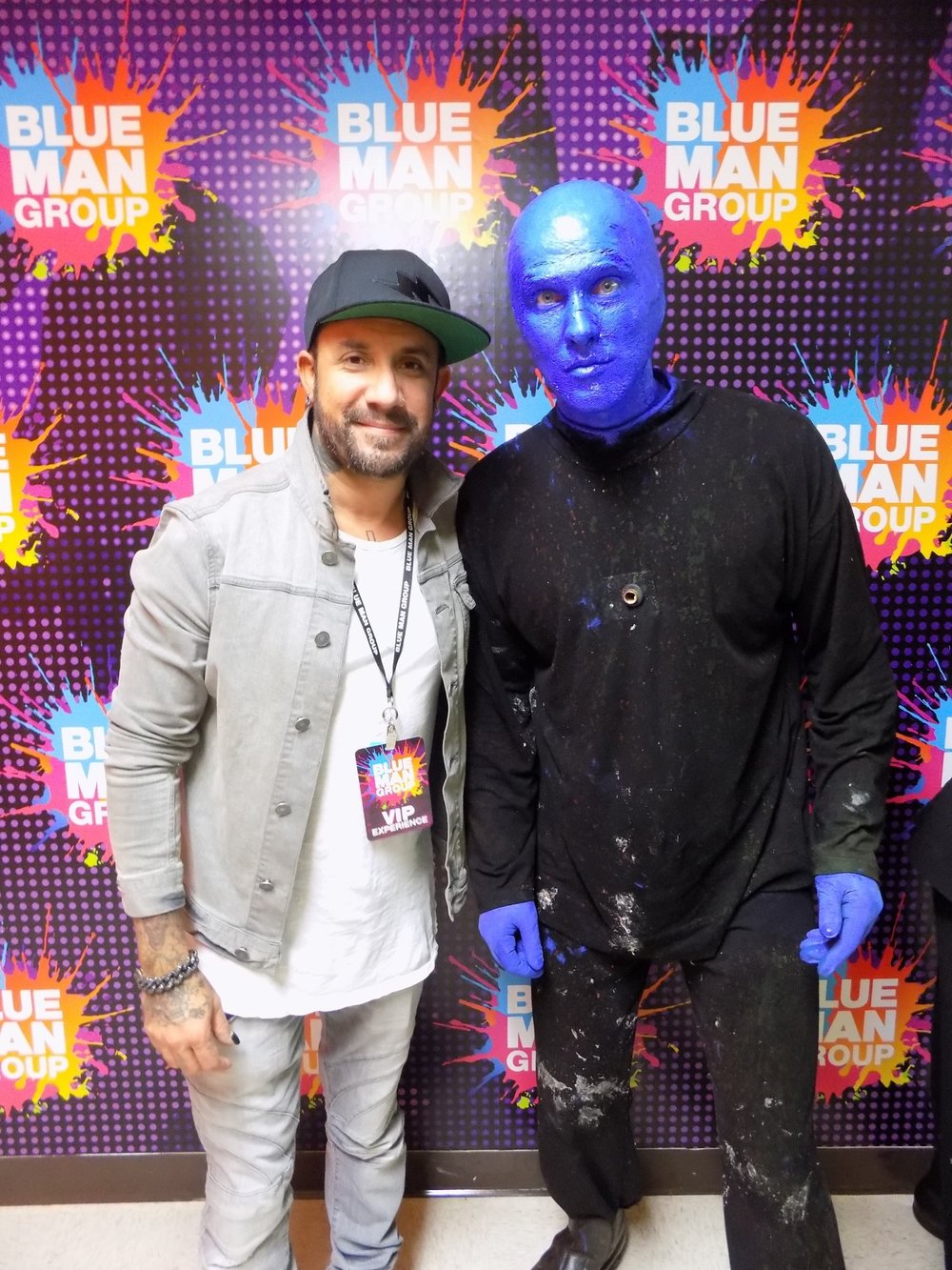 The 19th time AJ from The Backstreet Boys came to see our show. He REALLY likes Blue Man Group.